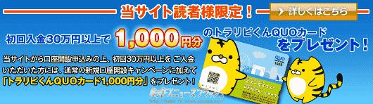 マネースクウェア・ジャパン m2j タイアップ キャンペーン QUOカード
