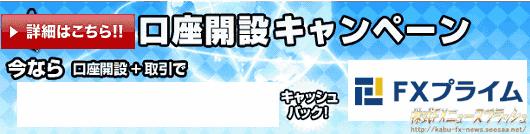 FXプライム キャンペーン キャッシュバック 16000円