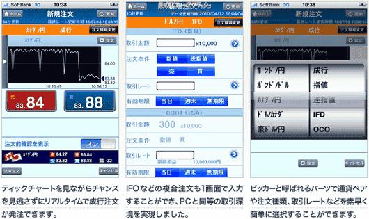 クイックトレード for iPhone 発注 注文